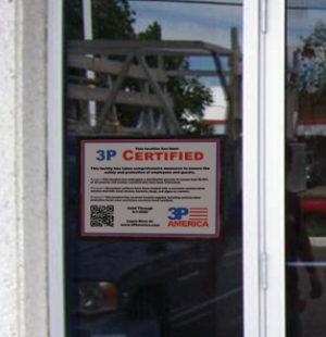 certificate-on-window